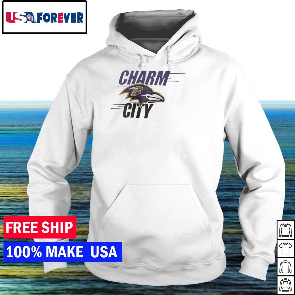 Charm city Baltimore Ravens s hoodie