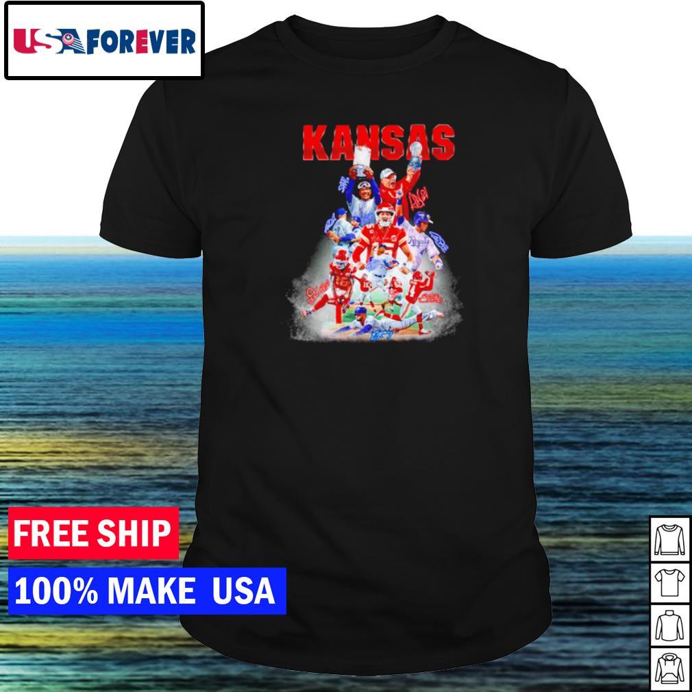 Kansas City Chiefs and Kansas City Royals champion player's signature shirt