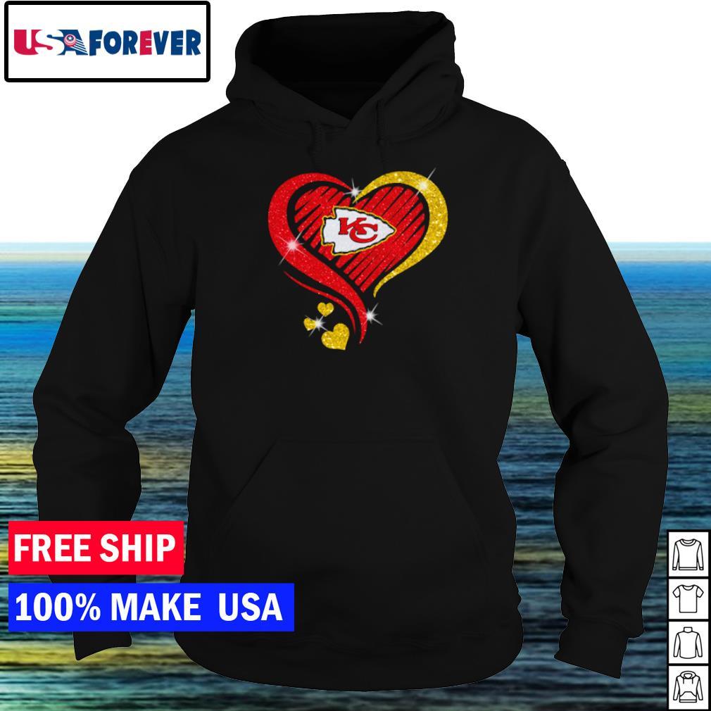 Kansas City Chiefs diamond heart love s hoodie