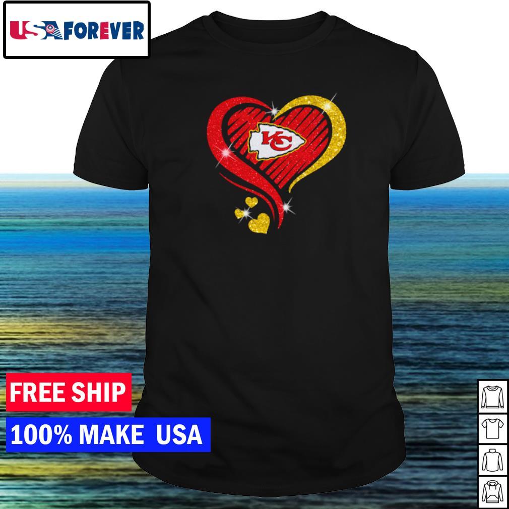Kansas City Chiefs diamond heart love shirt