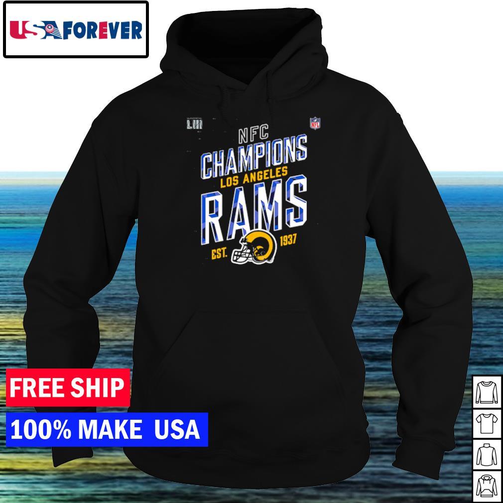 Los Angeles Rams NFC Champions est 1937 logo s hoodie