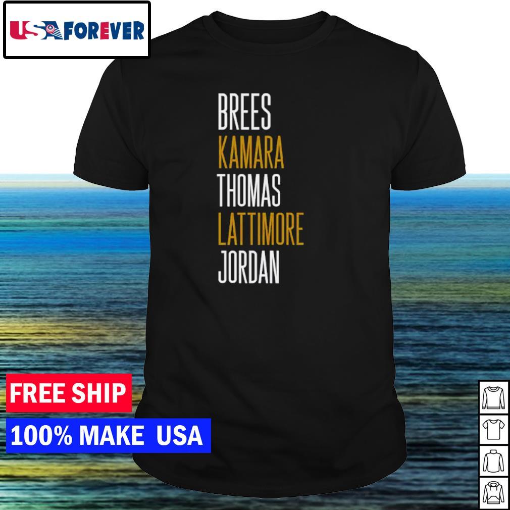 New Orleans Saints Brees Kamara Thomas Lattimore Jordan shirt