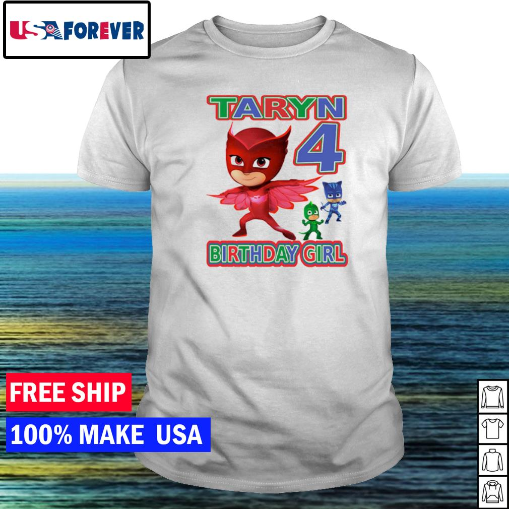 PJ Masks Taryn 4 birthday girl shirt