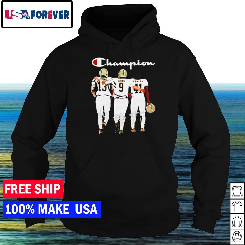 Saint Orleans Saints champion Thomas Brees Kamara signature s hoodie