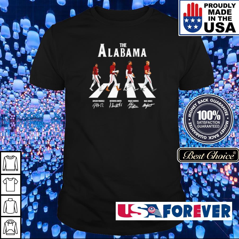 The Alabama Abbey Road Jaylen Devonta Najee and Mac signature shirt
