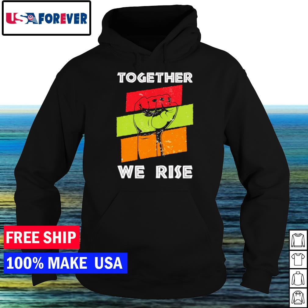 Together we rise American vintage pray for justice s hoodie