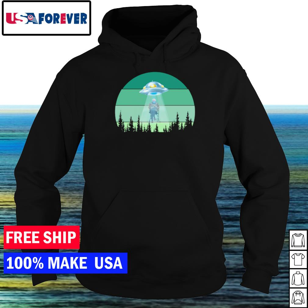 UFO inauguration day 2021 Bernie Sanders s hoodie