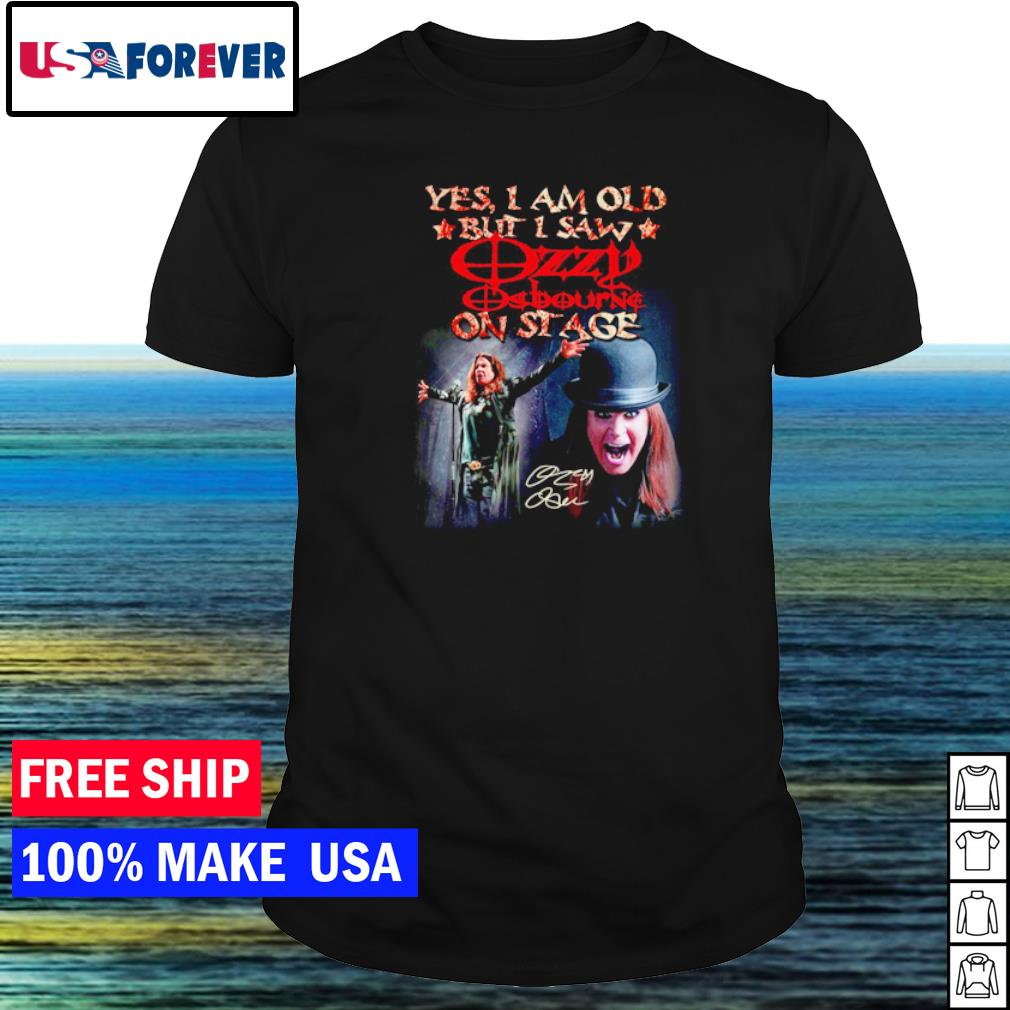 Yes I am old but I saw Ozzy Osbourne on stage vintage shirt